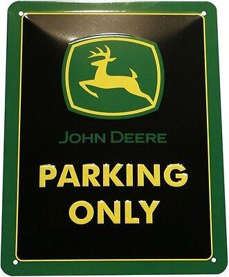 John Deere Parking Only Traktor geprägt 15x20 Blechschild Vintage M05 (John Deere Parking)