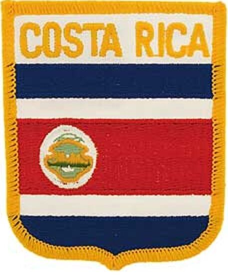 Embroidered International Patch National Flag of Costa Rica NEW bunting
