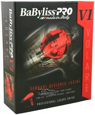 Babyliss PRO NANO TITANIUM VOLARE V1 FERRARI LUXURY DRYER RE