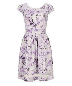 RICKIS Violet Print Fit & Flare Summer Dress ( NEW WITH TAGS )