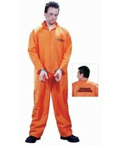 Prisoner Costume Size Large