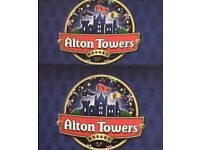 Alton towers genuine tickets