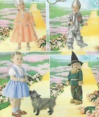 Costume PATTERN Wizard of OZ Simplicity 4024 Baby Toddler Playpal Tinman Dorothy - Dorothy Wizard Of Oz Costume Pattern