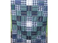 HOMEMADE PATCHWORK THROW - MULL OF KINTYRE £15 - Ideal Christmas Present for over a Chair or Bed