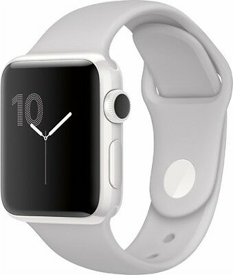 NEW Apple Be on the watch Edition 38mm White Ceramic Case White Sport Band MNPF2LL/A