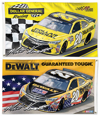 Matt Kenseth Dewalt Dollar General 20 Huge 3X5 2 Sided Deluxe 2016 Nascar Flag