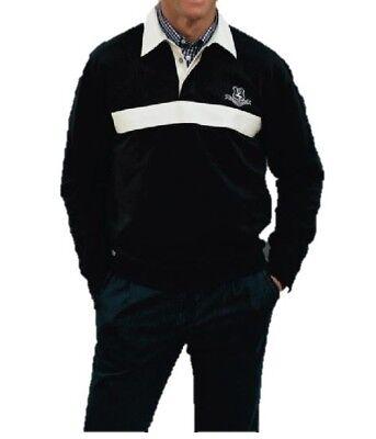 HERREN BLOUSONSHIRT POLO SCHWARZ/WEISS GR 50 !!NEU!! Shirt-polo-schwarz