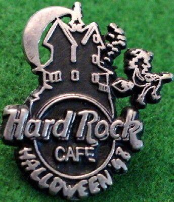 Hard Rock Cafe MEXICO CITY 1998 HALLOWEEN PIN Sterling Silver HAUNTED HOUSE - Halloween Rock City