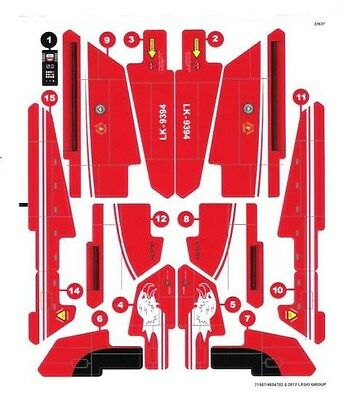 LEGO 9394 - Technic: Model: Airport - Jet Plane - STICKER SHEET