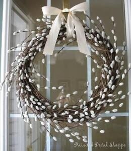 Spring Faux Willow Wreath/Rustic Spring Wedding Decor/ Wreath Belleville Belleville Area image 4