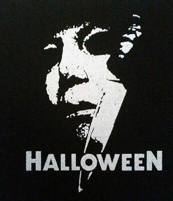 Halloween PATCH canvas screen print HORROR - John Carpenter / Michael Myers