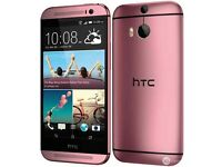 HTC one M8. 16gb. Pink. Unlocked. Used £100 fixed price
