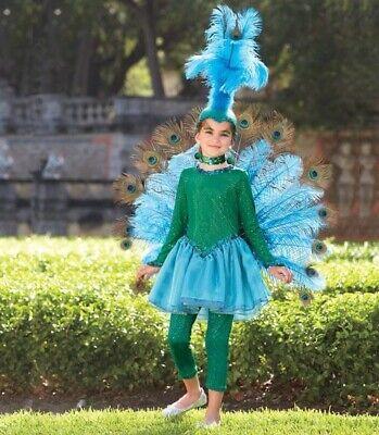 Peacock Costumes For Girls (Chasing Fireflies Wishcraft Girls Peacock Costume Size 10 Halloween Dress 6)