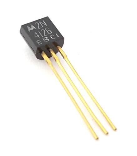 2N4126 Vintage Gold Leads PNP General Purpose Transistor 25V .2A (20 pieces)