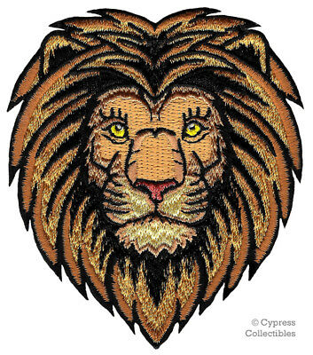 AFRICAN LION iron-on PATCH embroidered ROARING WILD ANIMAL SOUVENIR APPLIQUE new