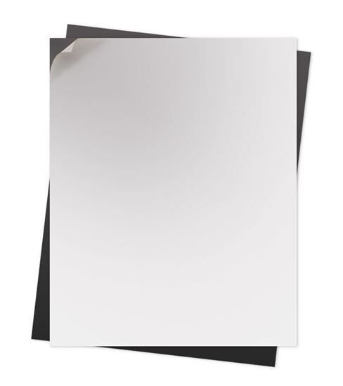 200 - 15 mil. Self Adhesive  Flexible Magnetic Sheets   8.5 x 11 inches