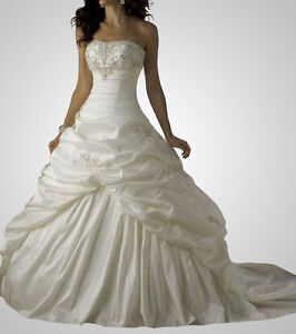 Stock New White/Ivory Wedding Dress Bridal Gown Ball Size 6 8 10 12 14 16 Custom