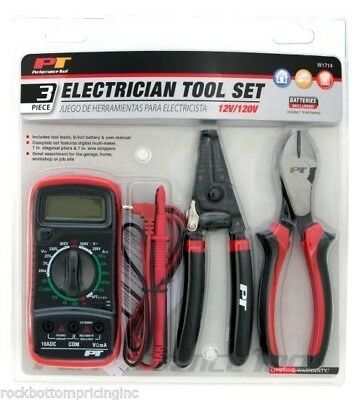 Performance Tool W1714 Electrician Tool Set