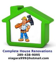 COMPLETE HOUSE RENOVATIONS