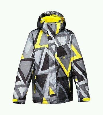 NWT Men's Quiksilver Yellow / Grey Snow Jacket XL ()