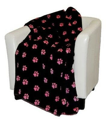 Reversible Paw Print Denali Pet Mini Throws for Covers Crate Beds and Furniture