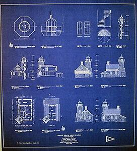 Vintage blueprints ebay vintage great lakes 1882 lighthouse builders blueprints 22 malvernweather Image collections