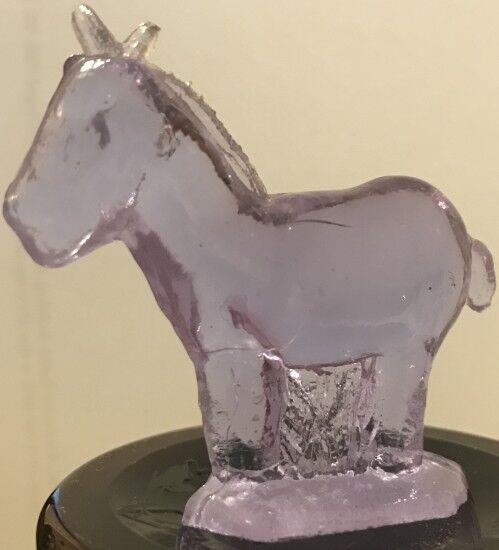 Guernsey Glass Company Heatherbloom Pink Mini Donkey Figurine Rare Nativity