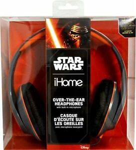 iHome Star Wars Over the Ear Headphones / Headset with Mic. AUX. Rich Clear Audio. Padded Ear Cushion. NEW