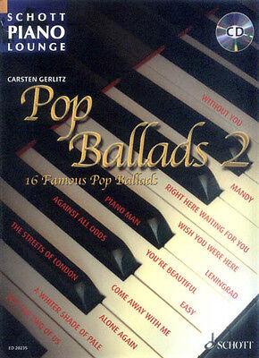 Schott Piano Lounge Pop Ballads 2 Klavier Noten mit CD Carsten Gerlitz