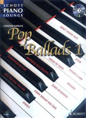 Schott Piano Lounge Pop Ballads 1 Klavier Noten mit CD Carsten Gerlitz