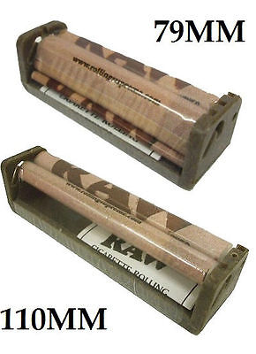 2 RAW ROLLER 79MM 110MM CIGARETTE ROLLING MACHINE HEMP FOR PAPER 1 1/4 KING SIZE on Rummage