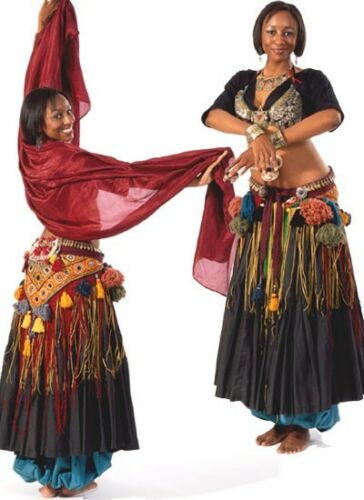 Folkwear 144 Tribal Style Belly Dancer Choli Pantaloons Sewing Costume Pattern