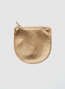 Baggu Leather Pouch Small S (wallet change coin credit card purse zipper bag)