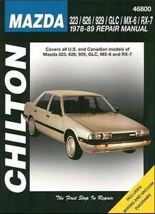 Mazda 323/626/929/GLC/MX-6/RX-7 1978-89 Repair Manual Blacktown Blacktown Area Preview