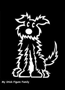 Official-MY-STICK-FIGURE-FAMILY-Car-Window-StIcker-PD2-Fluffy-Dog-Medium