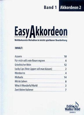 Easy Akkordeon Band 1 (2. Stimme) Noten leicht bis mittel