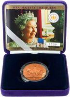 2002 British 5 Pounds Solid Gold Proof Coin Elizabeth II Jubilee