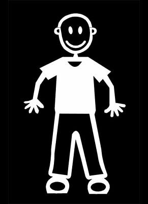 MY STICK FIGURE FAMILY Car Window StIckers M5 Male Trousers