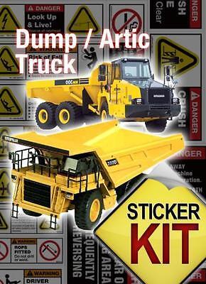 Dump Truck Safety Sticker Decals Dumpss