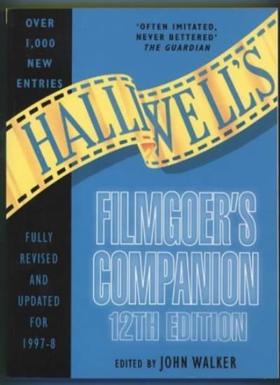 Halliwell's Filmgoer's Companion,John Walker- 9780002557986