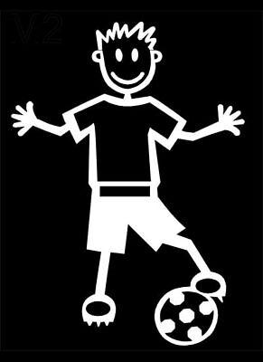 MY STICK FIGURE FAMILY Car Window Stickers M2 Adult Male Football