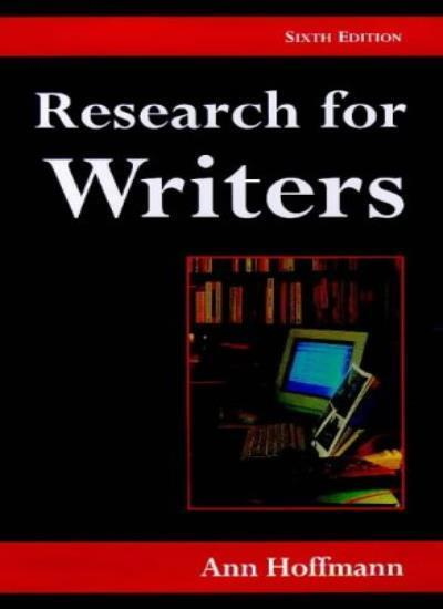 Research for Writers (Writing Handbooks) By  Ann Hoffmann. 9780713641561