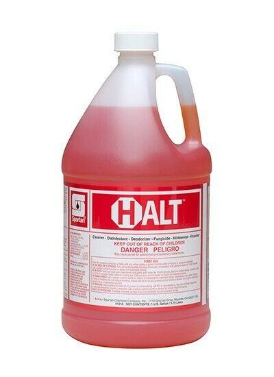 Spartan HALT Cleaner & Disinfectant, Gallons, 4 per Case