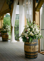 Renting oak barrels for your wedding or event!   Also Laterns!