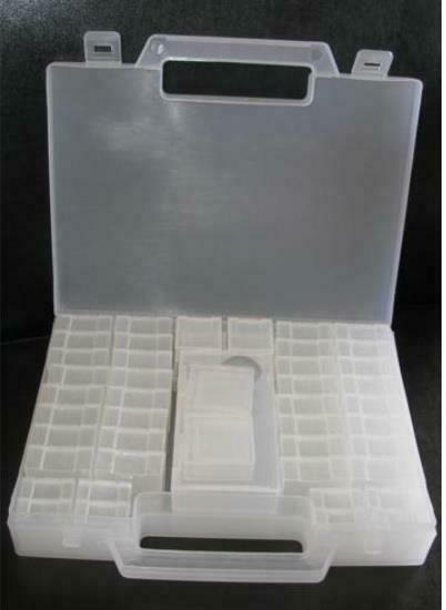NIP Bead Storage Case Findings Jewelry Making Sorting -55 pc organizer tweezers