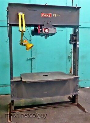 Dake 75 Ton Hydraulic Press Elec-draulic With Extra Wide H-frame