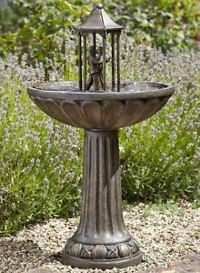 Solar ornamental dancing couple garden patio fountain for Ornamental garden features
