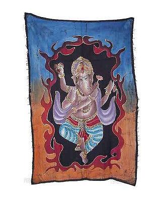 Batik Lord Ganesh Elephant 115x 74cm Crafts India Peterandclo 5038