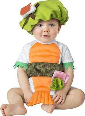 Incharacter Silly Sushi Japan Shrimp Wasabi Infant Baby Halloween Costume - Sushi Halloween Costume Baby