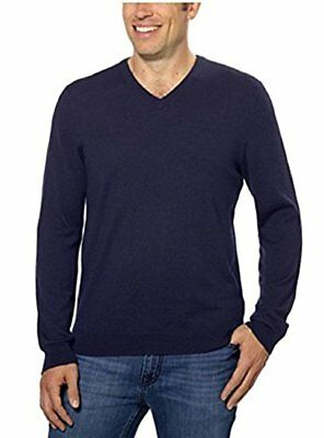 Mens Classic V-neck Sweater - Calvin Klein Men's Classic Fit Solid V-Neck Sweater - Size: Small            J-9
